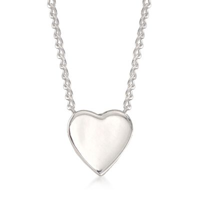 "Zina Sterling Silver ""Contemporary"" Mini Heart Necklace, , default"