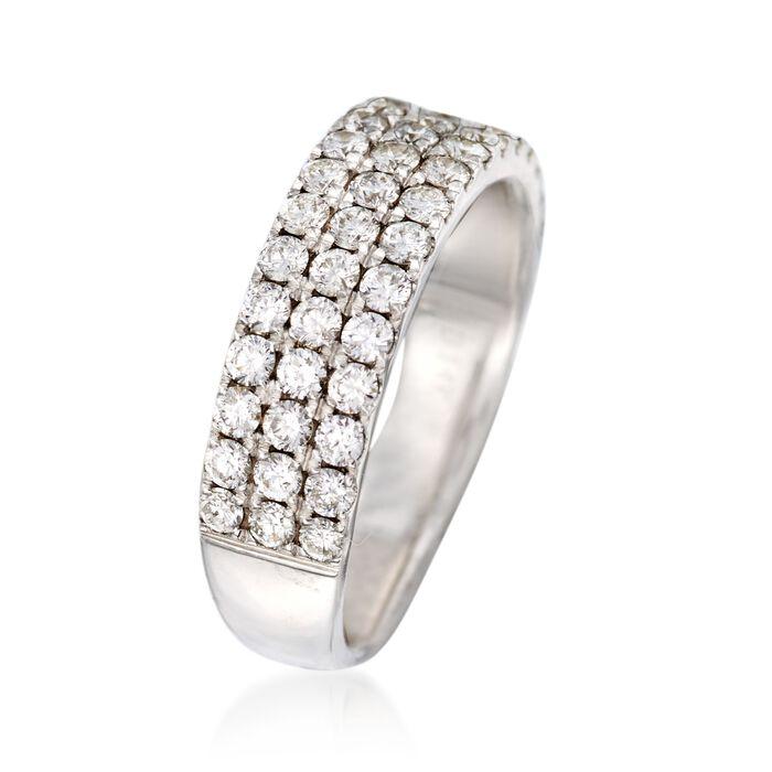 1.20 ct. t.w. Diamond Three-Row Ring in 14kt White Gold
