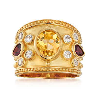 3.80 ct. t.w. Multi-Stone Ring in 14kt Gold Over Sterling