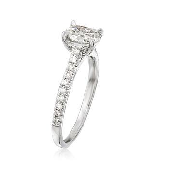 Henri Daussi .94 ct. t.w. Diamond Ring in 18kt White Gold, , default