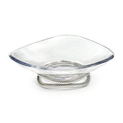 "Nambe ""Braid"" Glass Centerpiece Bowl"