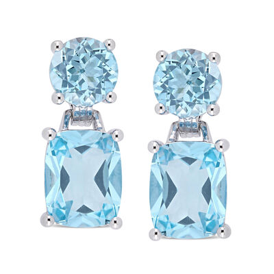 11.10 ct. t.w. Sky Blue Topaz Drop Earrings in Sterling Silver