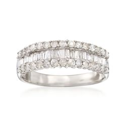 1.05 ct. t.w. Diamond Band Ring in Sterling Silver, , default