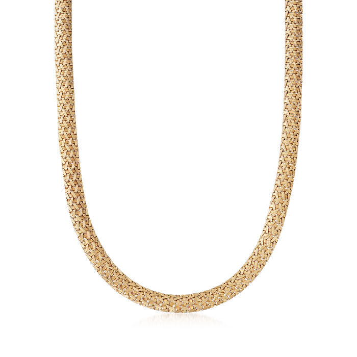 C. 1990 Vintage 14kt Yellow Gold Mesh Necklace. 17""