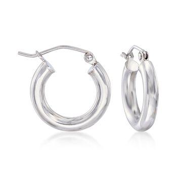 """3mm Sterling Silver Huggie Hoop Earrings. 5/8"""", , default"""