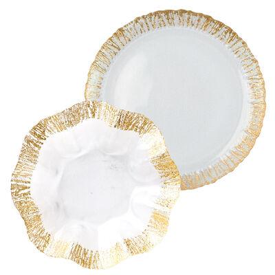 """Vietri """"Rufolo"""" Gold Glass Platter"""