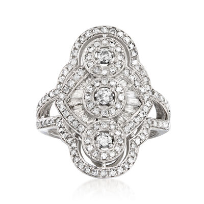 1.00 ct. t.w. Diamond Triple-Circle Ring in 14kt White Gold, , default
