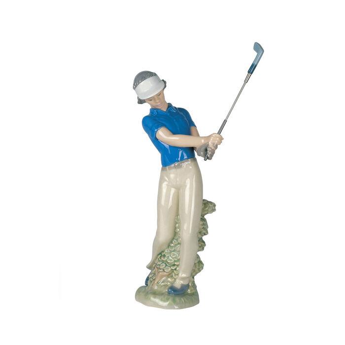"""Nao """"Fore! Junior Golfer"""" Porcelain Figurine , , default"""