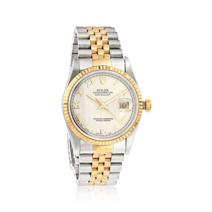 Pre-Owned Rolex Datejust Men's 36mm Automatic Watch in Two-Tone, , default