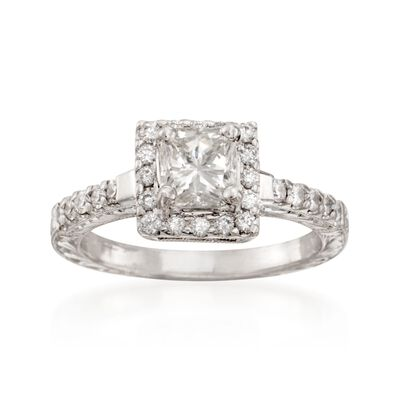 1.39 ct. t.w. Certified Radiant-Cut Diamond Engagement Ring in Platinum, , default