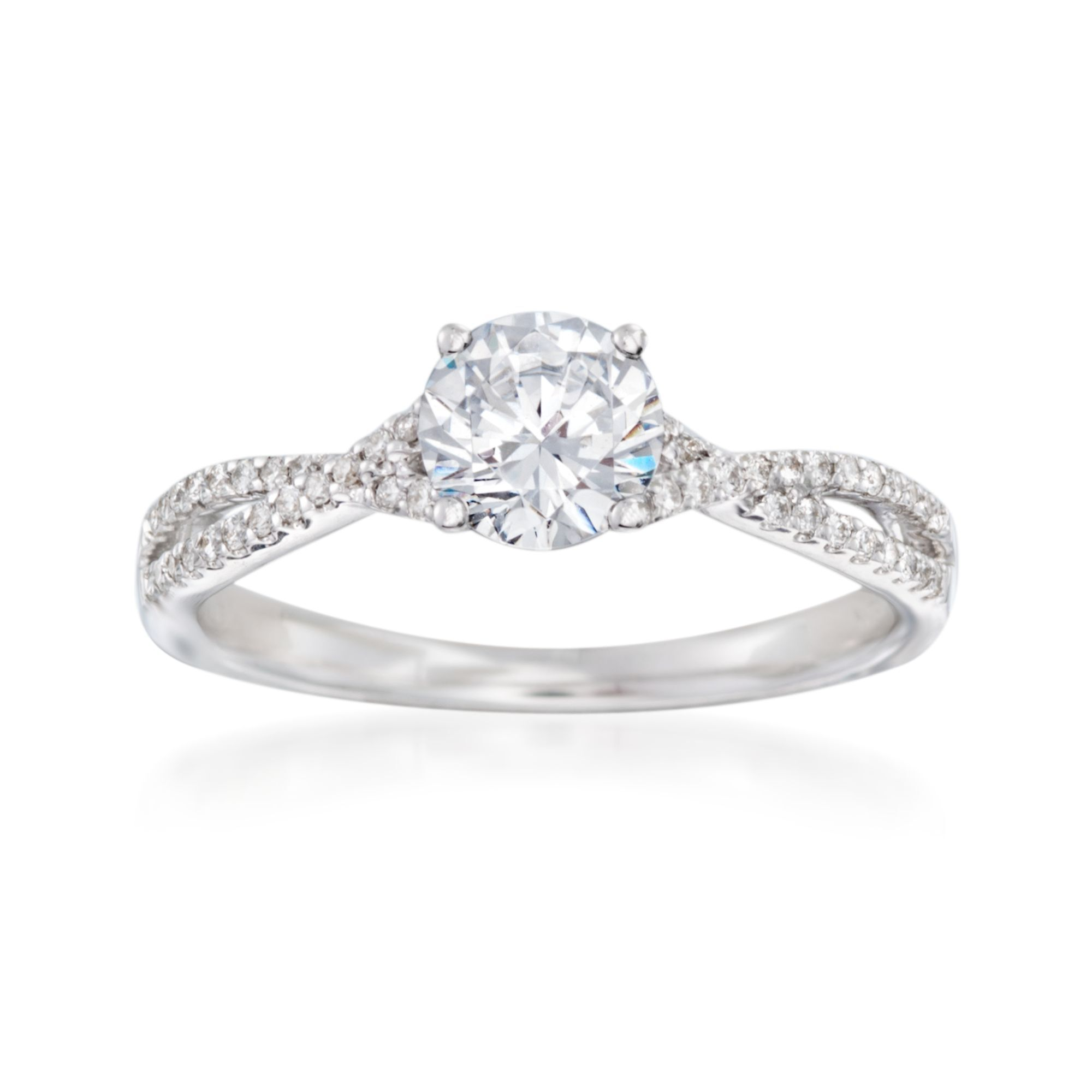 Sterling Silver /& 14k Two-stone and Diamond Mothers Ring Semi-Mount Size 8 Length 0 Width 5