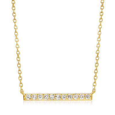 .25 ct. t.w. Diamond Bar Necklace in 14kt Yellow Gold
