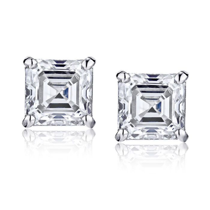 .48 ct. t.w. Certified Diamond Stud Earrings in Platinum, , default