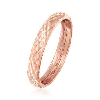 18kt Rose Gold Quilted Textured Ring
