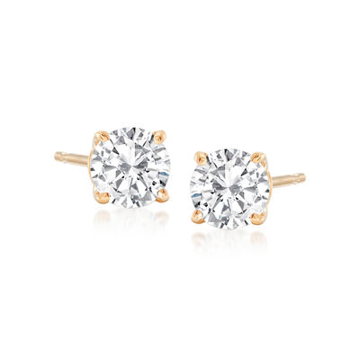 .75 ct. t.w. Round Diamond Stud Earrings in 14kt Yellow Gold