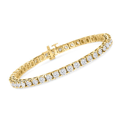 7.00 ct. t.w. Diamond Tennis Bracelet in 14kt Yellow Gold