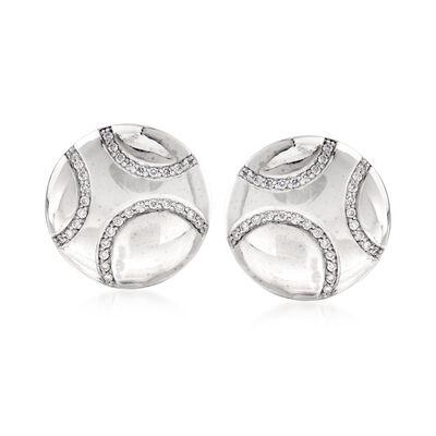 C. 1990 Vintage .30 ct. t.w. Diamond Earrings in 14kt White Gold, , default