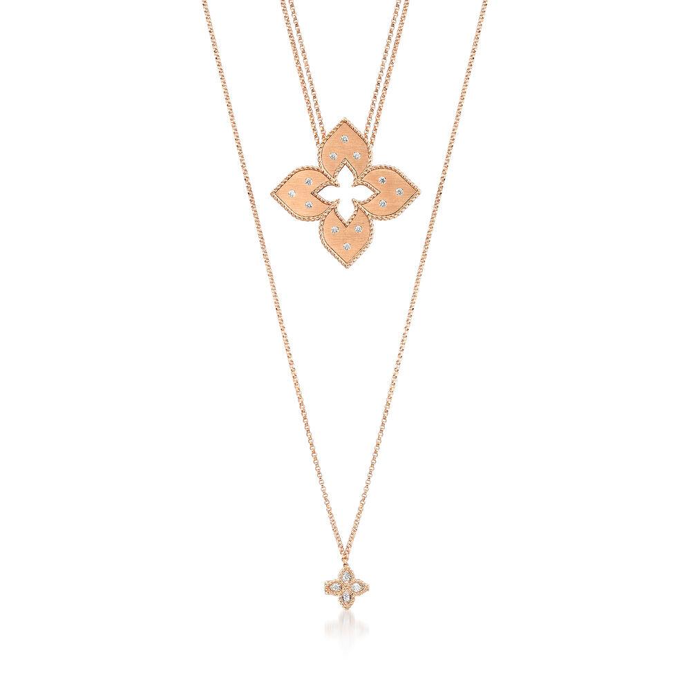 Roberto Coin Venetian Princess 20 Ct T W Diamond Double Chain