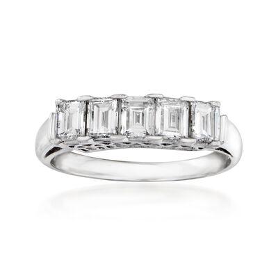 C. 1950 Vintage 1.05 ct. t.w. Baguette Diamond Ring in Platinum