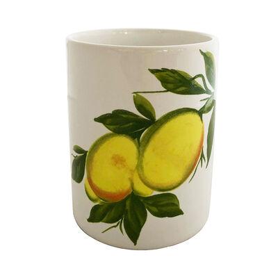 Abbiamo Tutto Lemon Ceramic Wine Bottle/Kitchen Utensil Holder from Italy