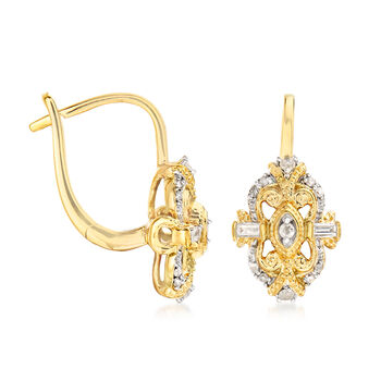 .25 ct. t.w. Diamond Earrings in 18kt Gold Over Sterling