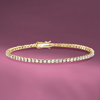 3.50 ct. t.w. Diamond Tennis Bracelet in 14kt Yellow Gold