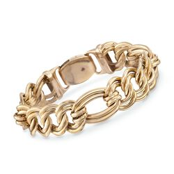 "Roberto Coin 18kt Yellow Gold Flat Link Bracelet. 7"", , default"
