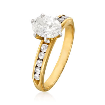 C. 1980 Vintage 1.25 ct. t.w. Diamond Ring in 14kt Yellow Gold. Size 6