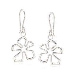 """Zina Sterling Silver Small """"Tiki"""" Flower Drop Earrings , , default"""