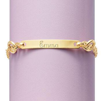 Italian 14kt Yellow Gold Name Bar ID Bracelet, , default