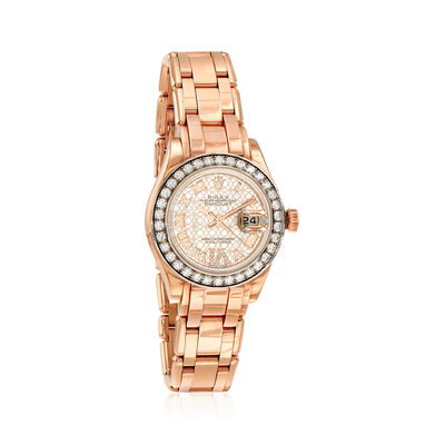 Pre-Owned Rolex Pearlmaster Women's 29mm Automatic 18kt Rose Gold Watch, , default