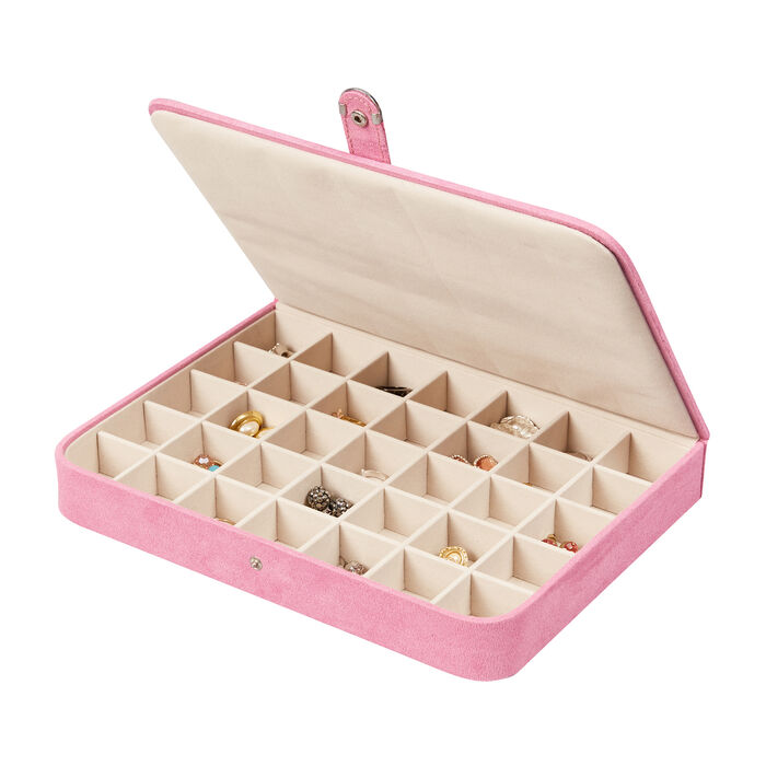 """Mele & Co. """"Cameron"""" Pink Jewelry Case"""