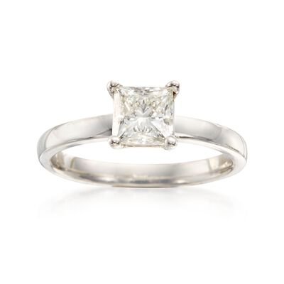 1.03 Carat Certified Diamond Engagement Ring in 14kt White Gold, , default