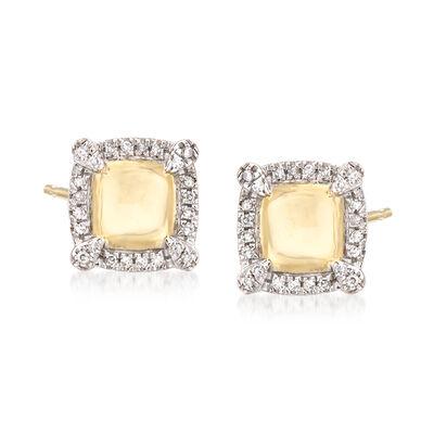 .10 ct. t.w. Diamond Frame Earrings in 14kt Yellow Gold