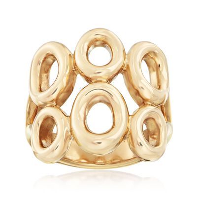 14kt Yellow Gold Double-Row Circle Ring, , default
