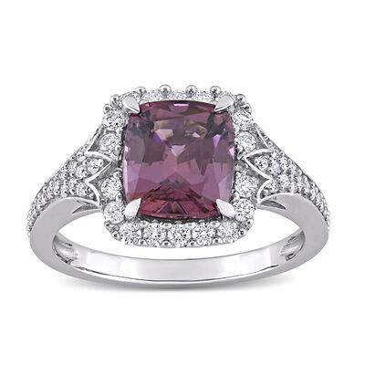 2.40 Carat Purple Spinel and .47 ct. t.w. Diamond Ring in 14kt White Gold
