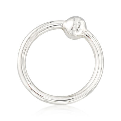 Cunill Sterling Silver Single Ring Baby Rattle, , default