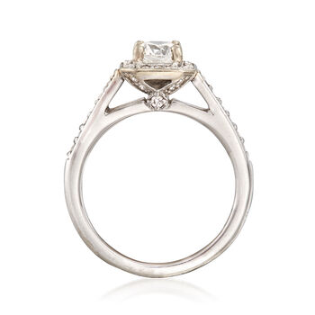 C. 2000 Vintage 1.15 ct. t.w. Diamond Square Halo Ring in 14kt White Gold. Size 7, , default