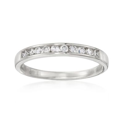.25 ct. t.w. Channel-Set Diamond Wedding Ring in 14kt White Gold