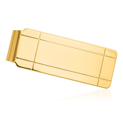 14kt Yellow Gold Polished Engravable Money Clip, , default