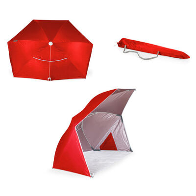 Brolly Beach Red Umbrella Tent