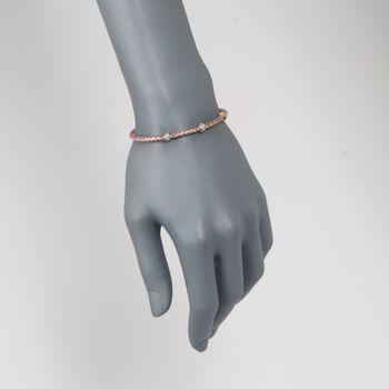 "Charles Garnier ""Torino"" .30 ct. t.w. CZ Cuff Bracelet in 18kt Rose Gold Over Sterling Silver. 7"", , default"