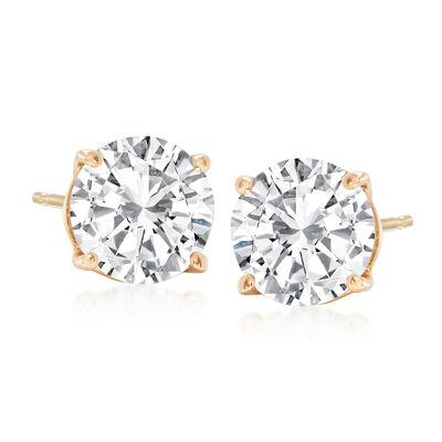 2.40 ct. t.w. Diamond Stud Earrings in 14kt Yellow Gold
