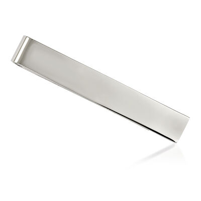 Stainless Steel Polished Tie Bar, , default