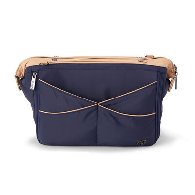 Pursen Littbag Lighted Navy Nylon Purse Organizer, , default