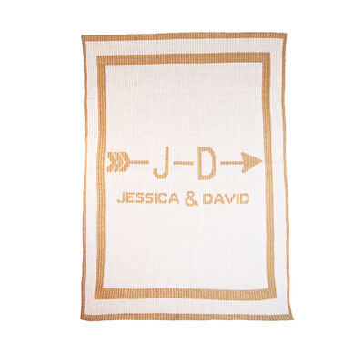 Butterscotch Blankees Personalized Cupid's Arrow Couple's Blanket, , default