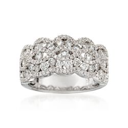 2.18 ct. t.w. Wavy Diamond Ring in 18kt White Gold, , default