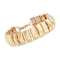 Gold-Plated Metal Long Bar Bracelet, , default
