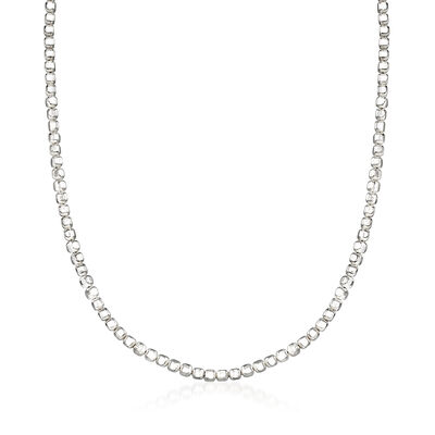 "Zina Sterling Silver ""Ice Cube"" Chain Necklace, , default"