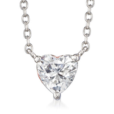 1.51 ct. t.w. Swarovski CZ Heart Necklace in Sterling Silver